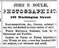 1862 JohnSoule Photographist BostonDirectory.png