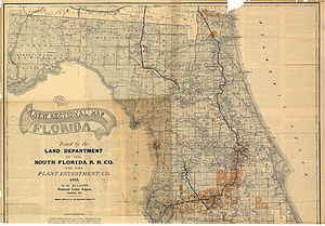 Florida Railroad Map.South Florida Railroad Wikipedia
