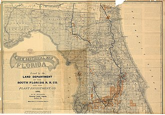 South Florida Railroad - Image: 1888 SFRR north