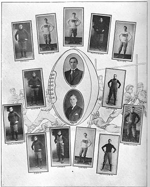 1907 William & Mary Orange and White football team - From the 1908 Colonial Echo