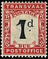 1907ca 1d Transvaal Due unused SG D2 black & scarlet.jpg