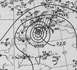1924 Cuba Hurricane Analysis 19. Oktober 1924.jpg