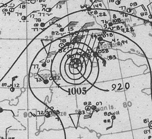 1924 Atlantic hurricane season - Image: 1924 Cuba Hurricane Analysis 19 Oct 1924