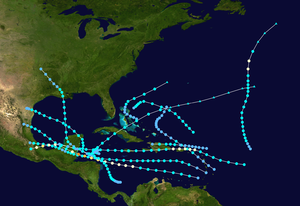 1931 Atlantic hurricane season - Image: 1931 Atlantic hurricane season summary map