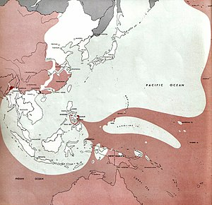 Timeline of World War II (1945-91) - Image: 1945 01 01Jap WW2Battlefront Atlas