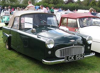 Bond Minicar - 1956 Bond Minicar Mark E Prototype (Experimental 12) the Mark E was radically different in design from any previous Minicar.
