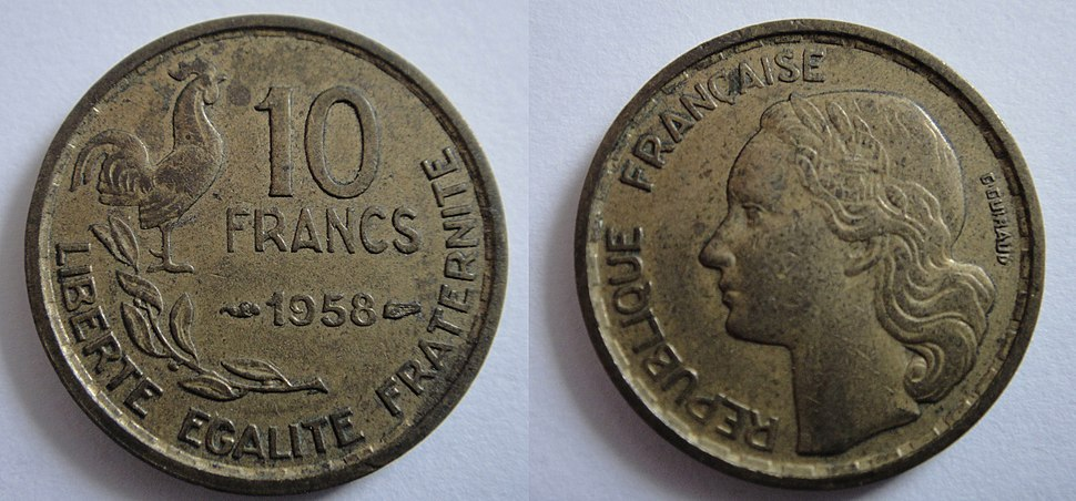 1958 10FrenchFrancs