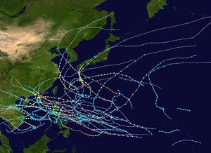 1964 Pacific typhoon season summary map.png