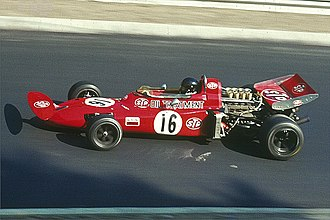 Andrea de Adamich - De Adamich driving for March in the 1971 German Grand Prix.