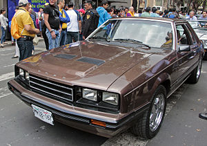 Ford Mustang (third generation) - 1983 Ford Mustang Coupé, Mexican market version