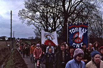 Campaign for Nuclear Disarmament - 1983 Easter CND march around the Atomic Weapons Research Establishment (AWRE) at Aldermaston