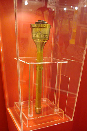 1984 Summer Olympics torch relay - A torch from the relay