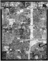 1988 aerial of Tempe Canal, Sections 30 and 31 (T1N R5E) and Sections 25 and 36 (T1N R4E) (top of page is north). Tempe Canal cuts across top right of picture, then reenters at HAER ARIZ,7-TEMP,7-23.tif