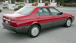 1991 Alfa Romeo 164L, rear right (Hershey 2019).jpg