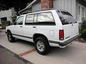 Chevrolet S-10 Blazer - 1994 Chevrolet Blazer rear-end