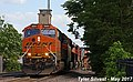 1 3 BNSF 3884 Leads EB 15,632 foot long Intermodal Olathe, KS 5-17-17 (34010966614).jpg