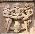 1 Erotic Kama statues of Khajuraho Hindu Temple Kandariya Mahadeva Khajurâho India 2013.jpg