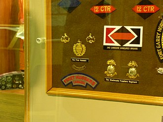 1st Hussars - Image: 1st Hussars brass and bage at Trenton Air Museum