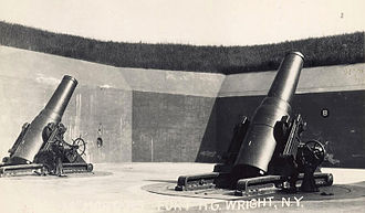 Fort H. G. Wright - 12-inch mortars, Battery Clinton, Fort H. G. Wright