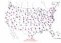 2002-10-07 Max-min Temperature Map NOAA.png