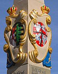 20030925250DR Neustadt in Sachsen Postmeilensäule Wappen.jpg