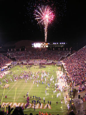 2006 Virginia Tech Hokies football team - Image: 2006 Clemson at Virginia Tech celebration