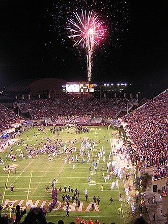 2006 Virginia Tech Hokies football team - Image: 2006 Clemson at Virginia Tech celebration