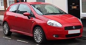 2006 Fiat Grande Punto Sporting TJ 1.4 avant.jpg
