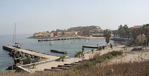 Joseph Wall (colonial administrator) - The port on Gorée island (Sénégal).
