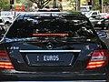 2007 Queensland registration plate EUROS vanity on Mercedes.jpg