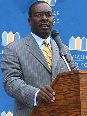 Byron Brown - Brown spoke in September 2008 at Medaille College.