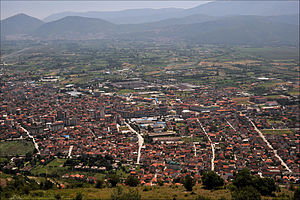 Battle of Tetovo - Image: 20090715 Tetovo view from the mountain