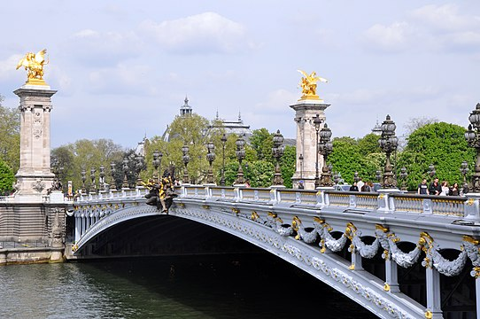 Pont Alexandre III Paris, France.