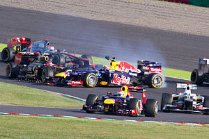2012 Japanese Grand Prix - Romain Grosjean was once again the center of controversy when he collided on the first lap with Mark Webber.
