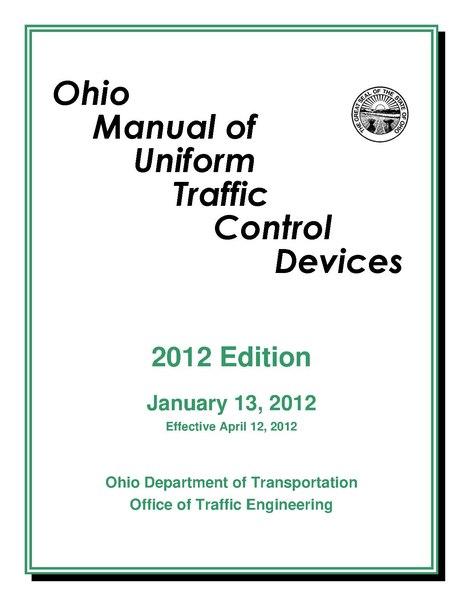 File:2012 Ohio Manual of Uniform Traffic Control Devices, cover ...