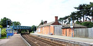 Derby Road railway station - Image: 2012 at Derby Road station view from the east