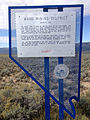 2014-09-15 09 21 30 Historical marker for the Ward Mining District - Silver Ore along U.S. Routes 6, 50 and 93 at White Pine County Route 16 south of Ely, Nevada.JPG