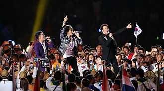 Park Yoo-chun - JYJ in 2014 Asian Games opening ceremony