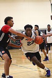 Swanigan driving on Chase Jeter at the 2015 McDonald s All-American Boys  Game closed practice 9d1261f4b