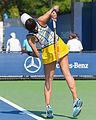 2015 US Open Tennis - Qualies - Misa Eguchi (JPN) def. Julie Coin (FRA) (20752392388).jpg
