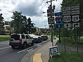 2016-06-03 15 19 33 View west along U.S. Route 250 Business (University Avenue) just east of the junction with U.S. Route 29 Business (Emmet Street) within the University of Virginia in Albemarle County, Virginia.jpg