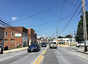 Hampstead, Maryland - Northbound on Main Street in Hampstead