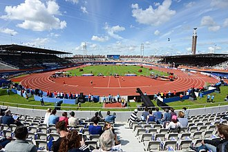 Olympic Stadium (Amsterdam) - The Olympic Stadium during the 2016 European Athletics Championships.