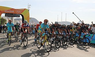 Cycling at the 2016 Summer Olympics – Men's individual road race - Image: 2016 Summer Olympics Men's individual road race First Day 11