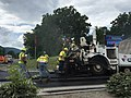 2017-06-12 13 55 50 Road crews paving Virginia State Route 387 (Mountain Empire Road) at U.S. Route 23 and U.S. Route 58 Alternate (Orby Cantrell Highway) at the Mountain Empire Community College in Irondale, Wise County, Virginia.jpg