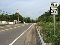 2017-07-22 08 17 06 View west along West Virginia State Route 37 (Court Street) at U.S. Route 52 in Fort Gay, Wayne County, West Virginia.jpg