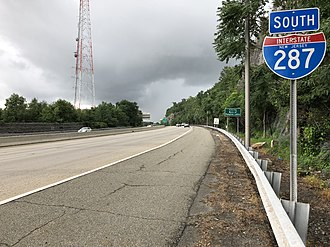 Wanaque, New Jersey - I-287 southbound in Wanaque