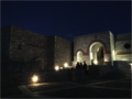 2019-01-21 Photo 7 - Panayia Yiatrissa - Upper Courtyard Entrance at Night.png