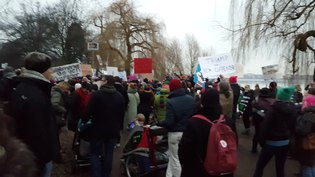 File:21 January 2017 - Hamburg - Democrats Abroad - We the People - A March for American Democracy - Women s March - Sister March.webm