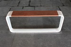 Neo-futurism - A neo-futurist public bench